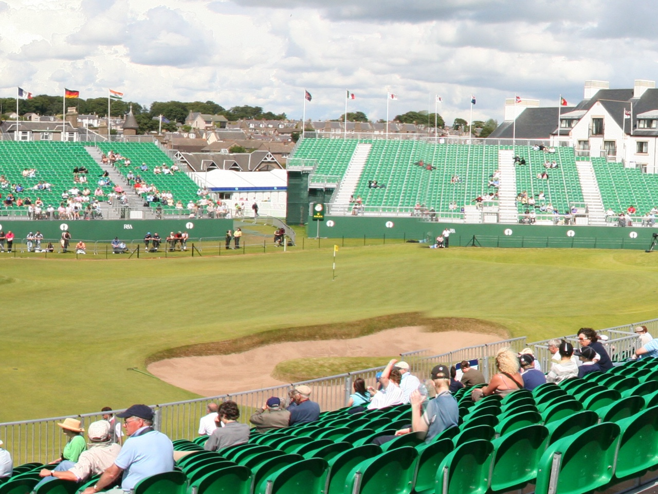 The 18th hole at Carnoustie.